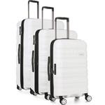 Antler Juno 2 Hardside Suitcase Set of 3 White 42215, 42216, 42219 with FREE GO Travel Luggage Scale G2006