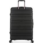 Antler Juno 2 Hardside Suitcase Set of 3 Black 42215, 42216, 42219 with FREE GO Travel Luggage Scale G2006 - 1
