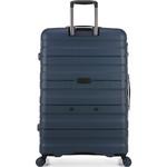 Antler Juno 2 Hardside Suitcase Set of 3 Navy 42215, 42216, 42219 with FREE GO Travel Luggage Scale G2006 - 1