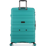Antler Juno 2 Hardside Suitcase Set of 3 Teal 42215, 42216, 42219 with FREE GO Travel Luggage Scale G2006 - 1