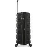 Antler Juno 2 Hardside Suitcase Set of 3 Black 42215, 42216, 42219 with FREE GO Travel Luggage Scale G2006 - 3