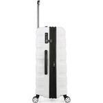Antler Juno 2 Hardside Suitcase Set of 3 White 42215, 42216, 42219 with FREE GO Travel Luggage Scale G2006 - 3