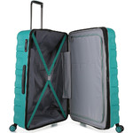 Antler Juno 2 Hardside Suitcase Set of 3 Teal 42215, 42216, 42219 with FREE GO Travel Luggage Scale G2006 - 4