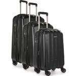 Antler Global Hardside Suitcase Set of 3 Black 42015, 42016, 42058 with FREE GO Travel Luggage Scale G2006