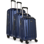 Antler Global Hardside Suitcase Set of 3 Navy 42015, 42016, 42058 with FREE GO Travel Luggage Scale G2006
