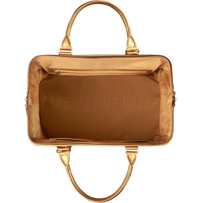 b4dcc57caf Lipault Miss Plume Medium Weekend Bag Dark Gold 86104