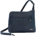 Pacsafe Daysafe Anti-Theft Slim Crossbody Tablet Bag Navy Polka Dot 20500 - 2