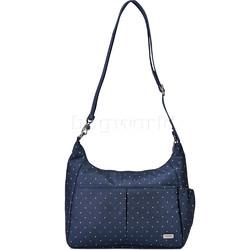 Pacsafe Daysafe Anti-Theft Crossbody Tablet Bag Navy Polka Dot 20510
