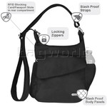 Travelon Classic Anti-Theft Messenger Bag Black 42242 - 7