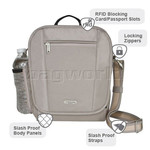 Travelon Classic RFID Blocking Anti-Theft Tablet Tour Bag Medium Black 42472 - 6