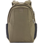 "Pacsafe Metrosafe LS350 RFID Blocking Anti-Theft 13.3"" Laptop 15L Backpack Earth Khaki 30430"