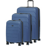 Qantas London Hardside Suitcase Set of 3 Blue 78980, 78970, 78956 with FREE GO Travel Luggage Scale G2006