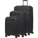 Qantas London Hardside Suitcase Set of 3 Black 78980, 78970, 78956 with FREE GO Travel Luggage Scale G2006