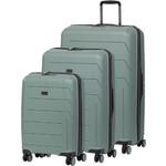 Qantas London Hardside Suitcase Set of 3 Grey 78980, 78970, 78956 with FREE GO Travel Luggage Scale G2006