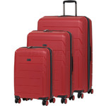 Qantas London Hardside Suitcase Set of 3 Red 78980, 78970, 78956 with FREE GO Travel Luggage Scale G2006