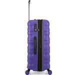 Antler Juno 2 Hardside Suitcase Set of 3 Purple 42215, 42216, 42219 with FREE GO Travel Luggage Scale G2006 - 3