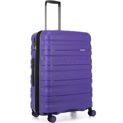 Antler Juno 2 Medium 68cm Hardside Suitcase Purple 42216