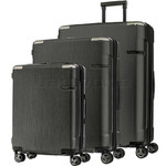 Samsonite Evoa Hardside Suitcase Set of 3 Brushed Black 92055, 92054, 92053 with FREE Samsonite Luggage Scale 34042