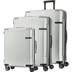 Samsonite Evoa Hardside Suitcase Set of 3 Silver 92055, 92054, 92053 with FREE Samsonite Luggage Scale 34042