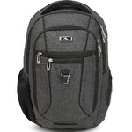 "High Sierra Endeavor Essential 15.4"" Laptop & Tablet Backpack Mercury Heather 03961 with a FREE High Sierra Drink Bottle - 2"
