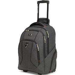 "High Sierra Endeavor 15.4"" Laptop & Tablet Wheel Backpack Mercury Heather 05577 with a FREE High Sierra Drink Bottle"