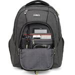 "High Sierra Endeavor 15.4"" Laptop & Tablet Wheel Backpack Mercury Heather 05577 with a FREE High Sierra Drink Bottle - 2"