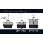 Samsonite Uplite SPL Small/Cabin 45cm Expandable Duffle Pearl Blue 88343 - 5