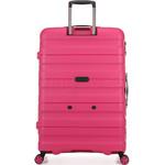 Antler Juno 2 Hardside Suitcase Set of 3 Pink 42215, 42216, 42219 with FREE GO Travel Luggage Scale G2006 - 1