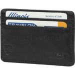 Travelon Travel Accessories SafeID RFID Blocking Leather Card Sleeve Black 72218
