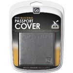 GO Travel RFID Leather Passport Cover Black GO672 - 3