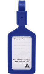 Airport Plastic Luggage Tag Blue 25568
