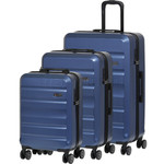 Qantas Melbourne Hardside Suitcase Set of 3 Blue 97056, 97068, 97078 with FREE GO Travel Luggage Scale G2006