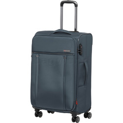 Qantas Charleville Medium 70cm Softside Suitcase Blue 82071