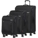 Qantas Charleville Softside Suitcase Set of 3 Black 82056, 82071, 82081 with FREE GO Travel Luggage Scale G2008