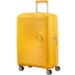 American Tourister Curio Medium 69cm Hardside Suitcase Golden Yellow 86229