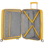 American Tourister Curio Hardside Suitcase Set of 3 Golden Yellow 87999, 86229, 86230 with FREE Samsonite Luggage Scale 34042 - 3