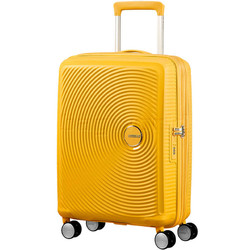 American Tourister Curio Small/Cabin 55cm Hardside Suitcase Golden Yellow 87999