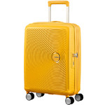 American Tourister Curio Small/Cabin 55cm Expandable Hardside Suitcase Golden Yellow 87999