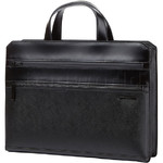 "Samsonite Red Hanfoi 14.1"" Laptop & Tablet Leather Briefcase Black 07031"