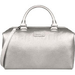 Lipault Miss Plume Medium Bowling Bag Silver 86107