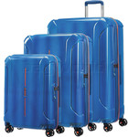 American Tourister Technum Hardside Suitcase Set of 3 Blue Blurred 89304, 89303, 91849 with FREE Samsonite Luggage Scale 34042