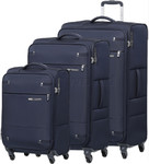 Samsonite Base Boost 2 Softside Suitcase Set of 3 Navy 09255, 09257, 09258 with FREE Samsonite Luggage Scale 34042