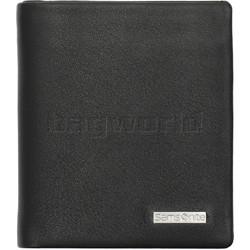 Samsonite RFID DLX Leather Slimline Wallet Black 91520