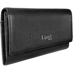 Lipault Plume Elegance Leather Wallet Black 78606 - 2