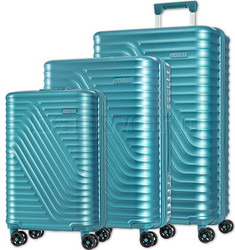 American Tourister High Rock Hardside Suitcase Set of 3 Lagoon Blue 06209, 06208, 06207 with FREE Samsonite Luggage Scale 34042
