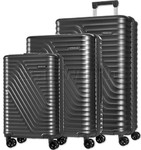 American Tourister High Rock Hardside Suitcase Set of 3 Meteor 06209, 06208, 06207 with FREE Samsonite Luggage Scale 34042