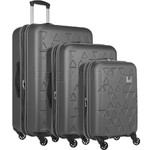 Revelation Echo Max Hardside Suitcase Set of 3 Charcoal 43415, 43416, 43458 with FREE GO Travel Luggage Scale G2006