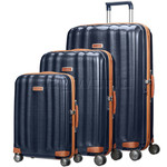 Samsonite Lite-Cube Deluxe Hardside Suitcase Set of 3 Midnight Blue 61242, 61243, 61245 with FREE Samsonite Luggage Scale 34042