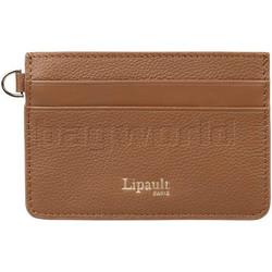 Lipault Plume Elegance Leather Card Holder Cognac 05387