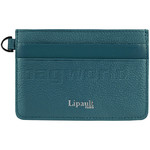 Lipault Plume Elegance Leather Card Holder Duck Blue 05387